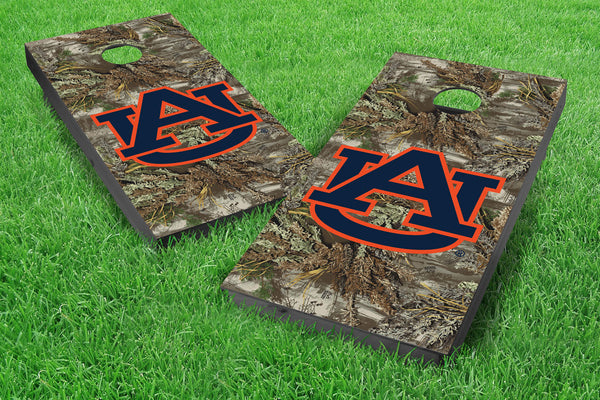 Image: Auburn Tigers Single Cornhole Board - Realtree Max-1<sup>®</sup> Camo | Proline Tailgating