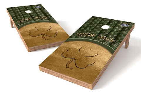 Image: Notre Dame Fighting Irish Cornhole Board Set- Shamrock Series Wood | Proline Tailgating