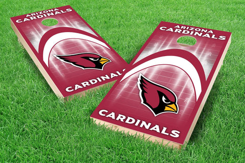 Image: Arizona Cardinals 2x4 Cornhole Board Set - Arch (w/Bluetooth Speakers) | Proline Tailgating