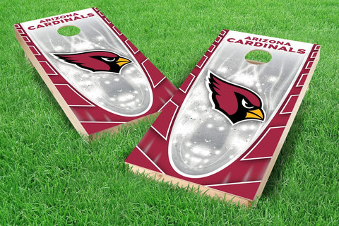 Image: Arizona Cardinals 2x4 Cornhole Board Set - Hot (w/Bluetooth Speakers) | Proline Tailgating