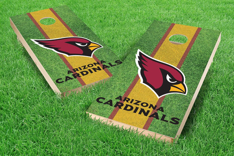 Image: Arizona Cardinals 2x4 Cornhole Board Set - Field (w/Bluetooth Speakers) | Proline Tailgating