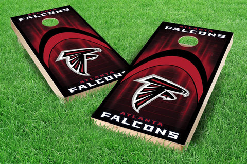 Image: Atlanta Falcons 2x4 Cornhole Board Set - Arch (w/Bluetooth Speakers) | Proline Tailgating