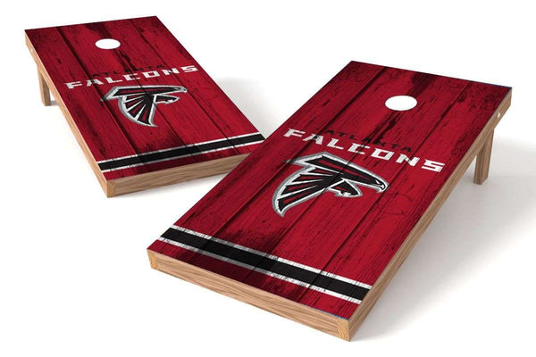 Image: Atlanta Falcons Cornhole Board Set - Vintage (w/Bluetooth Speakers) | Proline Tailgating