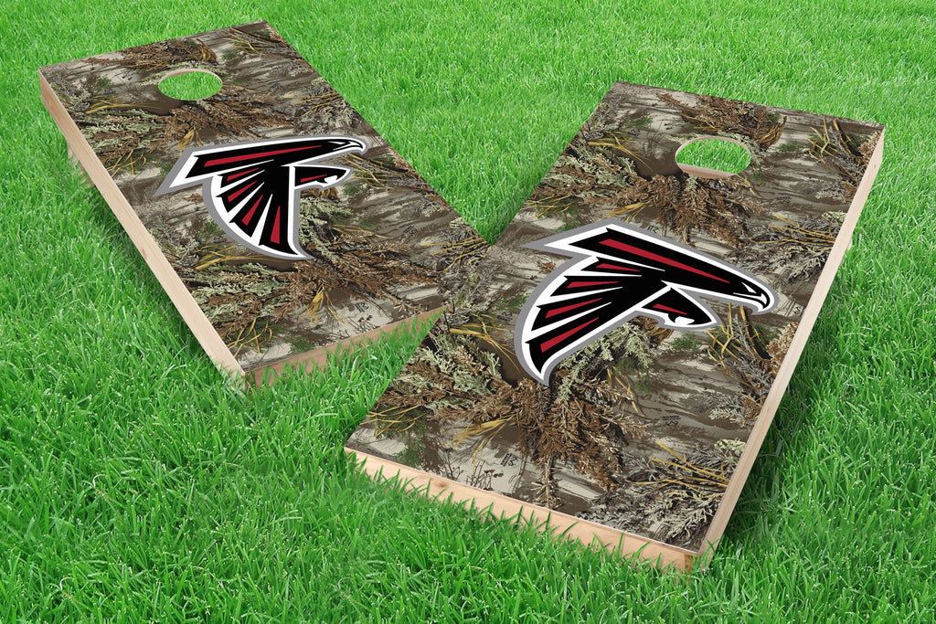 Image: Atlanta Falcons Single Cornhole Board - Realtree Max-1<sup>®</sup> Camo | Proline Tailgating