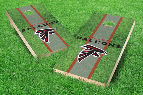 Image: Atlanta Falcons 2x4 Cornhole Board Set - Field (w/Bluetooth Speakers) | Proline Tailgating