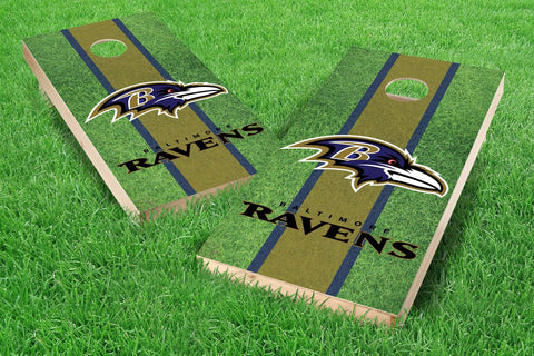 Image: Baltimore Ravens 2x4 Cornhole Board Set - Field (w/Bluetooth Speakers) | Proline Tailgating