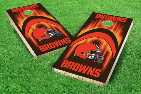 Image: Cleveland Browns 2x4 Cornhole Board Set - Arch | Proline Tailgating