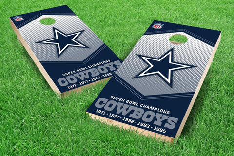 Image: Dallas Cowboys 2x4 Cornhole Board Set - Champions (w/Bluetooth Speakers) | Proline Tailgating