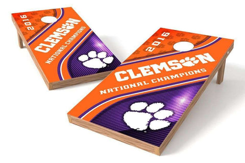 Image: Clemson Tigers 2x4 Cornhole Board Set - Champions (w/Bluetooth Speakers) | Proline Tailgating