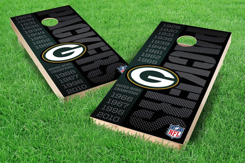 Image: Green Bay Packers 2x4 Cornhole Board Set - Champions (w/Bluetooth Speakers) | Proline Tailgating
