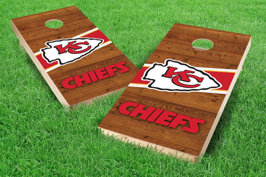 Image: Kansas City Chiefs 2x4 Cornhole Board Set - Logo (w/Bluetooth Speakers) | Proline Tailgating