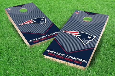 Image: New England Patriots 2x4 Cornhole Board Set - Champions (w/Bluetooth Speakers) | Proline Tailgating