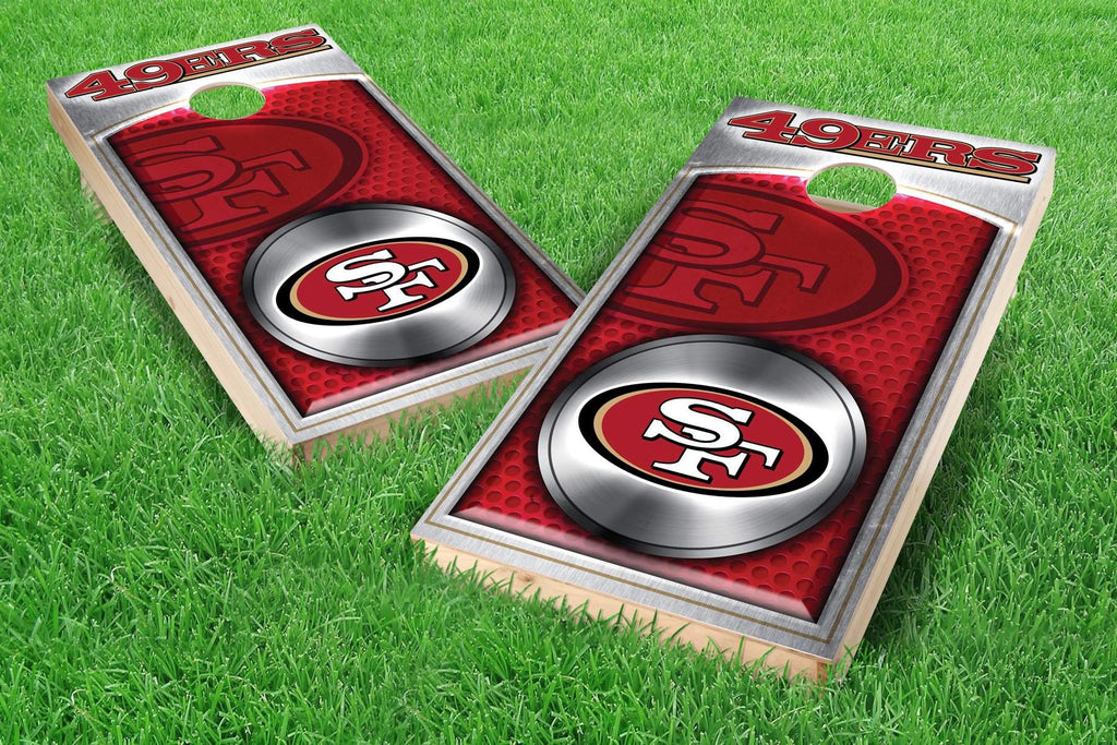 Image: San Francisco 49ers 2x4 Cornhole Board Set - Medallion | Proline Tailgating