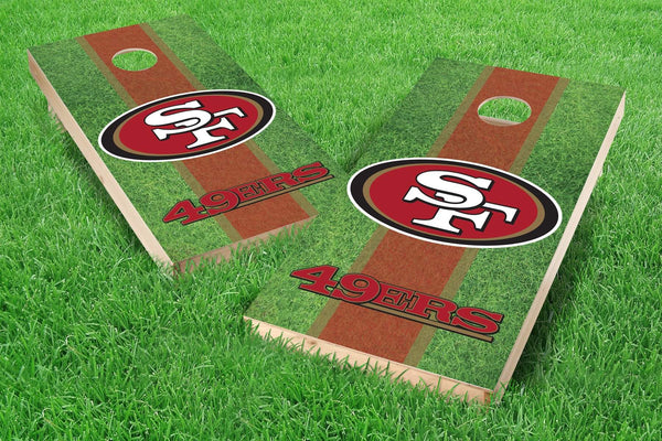 Image: San Francisco 49ers 2x4 Cornhole Board Set - Field | Proline Tailgating