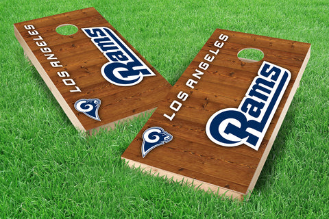 Image: Los Angeles Rams 2x4 Cornhole Board Set - Vertical (w/Bluetooth Speakers) | Proline Tailgating
