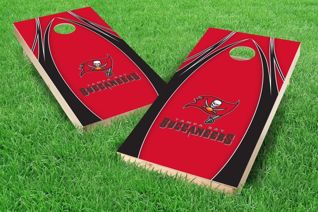 Image: Tampa Bay Buccaneers Cornhole Board Set - The Edge | Proline Tailgating