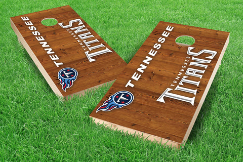 Image: Tennessee Titans 2x4 Cornhole Board Set - Vertical (w/Bluetooth Speakers) | Proline Tailgating