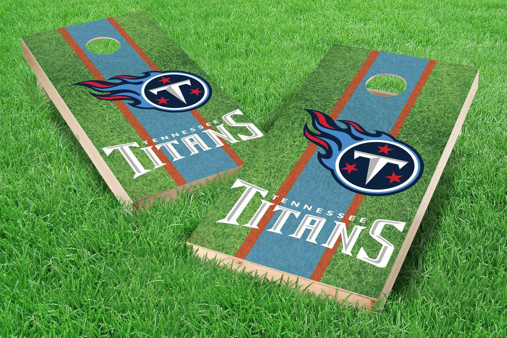 Image: Tennessee Titans Cornhole Board Set - Field | Proline Tailgating
