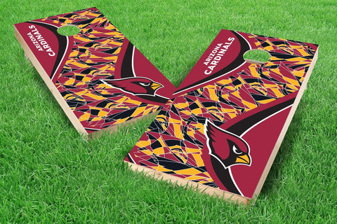 Image: Arizona Cardinals Cornhole Board Set - Millennial S Bend (w/Bluetooth Speakers) | Proline Tailgating