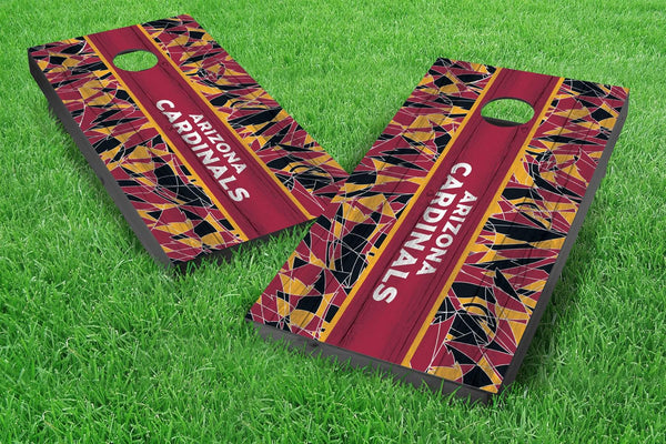 Image: Arizona Cardinals 2x4 Cornhole Board Set - Millennial Stripe (w/Bluetooth Speakers) | Proline Tailgating