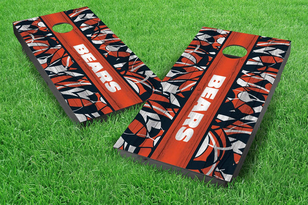 Image: Chicago Bears 2x4 Cornhole Board Set - Millennial Stripe (w/Bluetooth Speakers) | Proline Tailgating