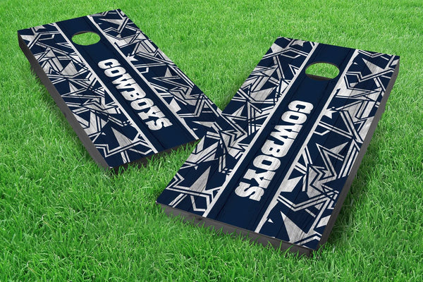 Image: Dallas Cowboys 2x4 Cornhole Board Set - Millennial Stripe | Proline Tailgating