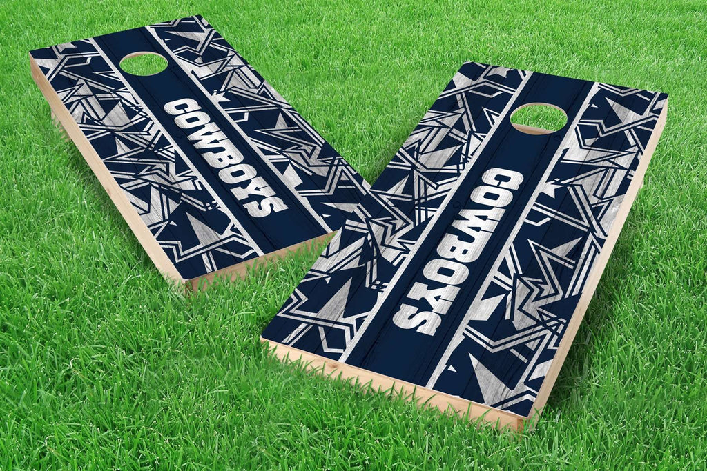 Image: Dallas Cowboys Cornhole Board Set - Millennial Stripe | Proline Tailgating