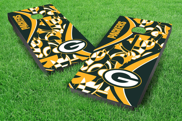 Image: Green Bay Packers 2x4 Cornhole Board Set - Millennial S Bend | Proline Tailgating