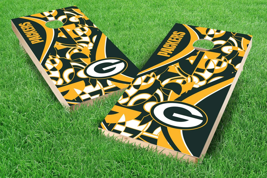 Image: Green Bay Packers Cornhole Board Set - Millennial S Bend | Proline Tailgating