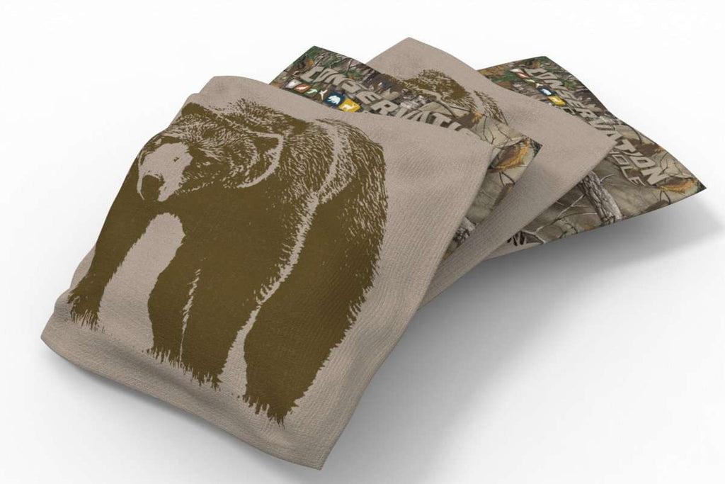 Image: Bear Conservation Bean Bags-4pk (A) | Proline Tailgating