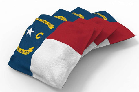 Image: North Carolina Flag Design Patriotic Bean Bags-4pk (A) | Proline Tailgating