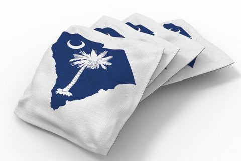 Image: South Carolina Flag Design Patriotic Bean Bags-4pk (B) | Proline Tailgating