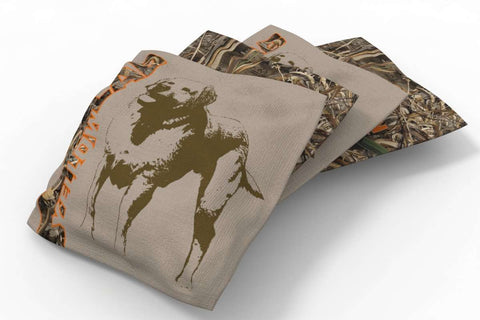 Image: Yellow Lab Hunting Dogs Bean Bags-4pk (B) | Proline Tailgating