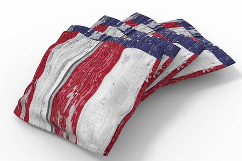 Image: Painted Flag Patriotic Bean Bags-4pk (Stripes) | Proline Tailgating