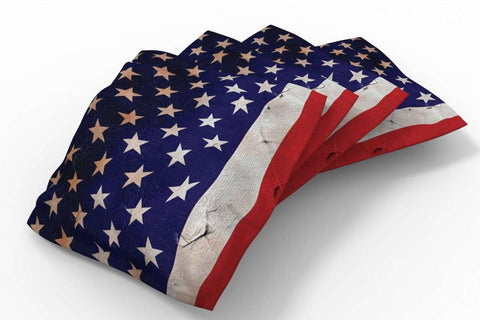 Image: Antique Flag Patriotic Bean Bags-4pk (Stars) | Proline Tailgating