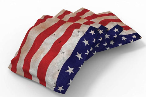 Image: Antique Flag Patriotic Bean Bags-4pk (Stripes) | Proline Tailgating