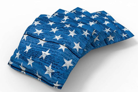 Image: Wooden Design Patriotic Bean Bags-4pk (Stars) | Proline Tailgating