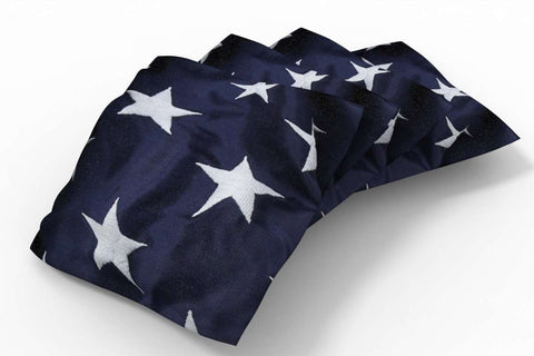 Image: Flag Design Patriotic Bean Bags-4pk (Stars) | Proline Tailgating