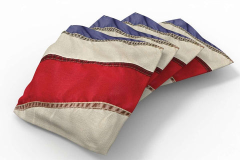Image: Vintage Flag Design Patriotic Bean Bags-4pk (Stripes) | Proline Tailgating