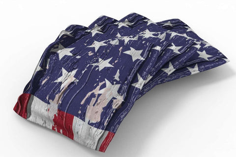Image: Painted Flag Patriotic Bean Bags-4pk (Stars) | Proline Tailgating