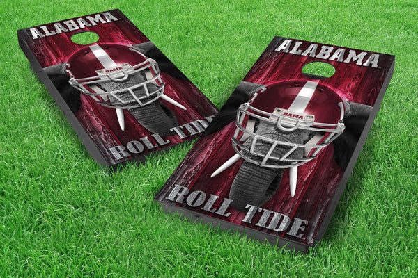 Image: Alabama Crimson Tide 2x4 Cornhole Board Set - Mascot | Proline Tailgating