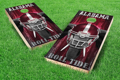 Image: Alabama Crimson Tide Cornhole Board Set - Mascot (w/Bluetooth Speakers) | Proline Tailgating
