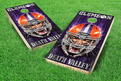 Image: Clemson Tigers Cornhole Board Set - Mascot (w/Bluetooth Speakers) | Proline Tailgating