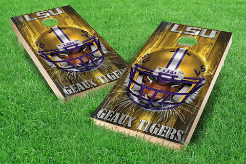 Image: LSU Tigers Cornhole Board Set - Mascot (w/Bluetooth Speakers) | Proline Tailgating