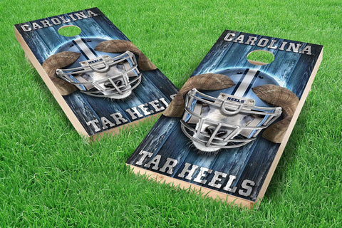 Image: UNC Tar Heels Cornhole Board Set - Mascot (w/Bluetooth Speakers) | Proline Tailgating