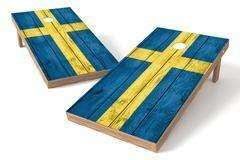 Image: Sweden Flag Single Cornhole Board-Vintage | Proline Tailgating