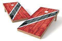 Image: Trinidad & Tobago Flag Single Cornhole Board-Vintage | Proline Tailgating