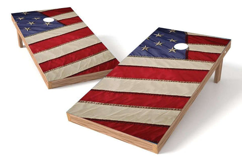 Image: USA Flag 2x4 Cornhole Board Set-Close (w/Bluetooth Speakers) | Proline Tailgating