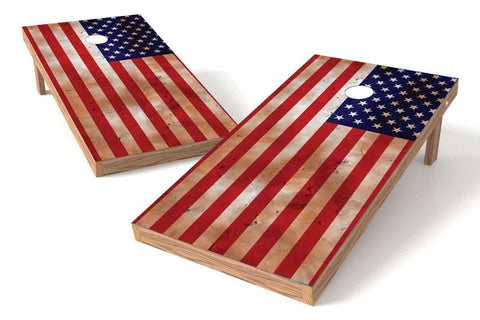Image: USA Flag Cornhole Board Set-Torn | Proline Tailgating