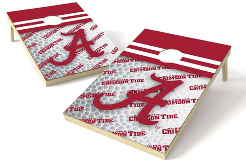 Image: Alabama Crimson Tide 2x3 Cornhole Board Set - Pigskin | Proline Tailgating